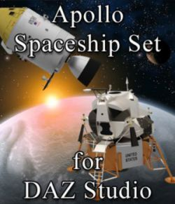 Apollo Spaceship Set for DAZ Studio