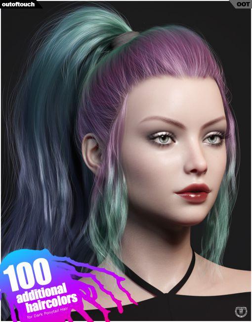 Dark Ponytail Hair Texture Expansion