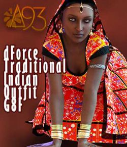a93 - dForce Traditional Indian Outfit for G8F