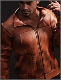 Vintage Leather Jacket for Genesis 8 Male(s)
