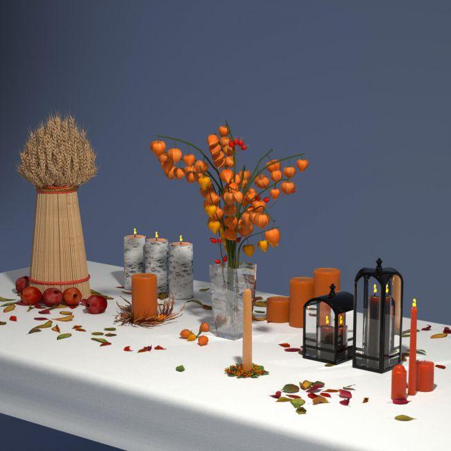 Autumn Decor Bundle 2 - OBJ