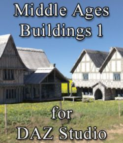 Middle Ages Buildings Set 1 for DAZ Studio