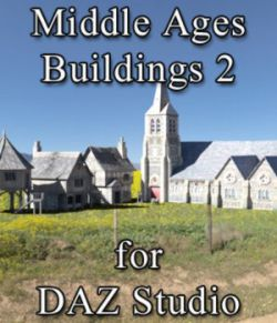 Middle Ages Buildings Set 2 for DAZ Studio