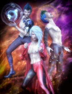 Anime Action Poses for Yuzuru 8 and Genesis 8 Males