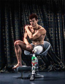 Modern Leg Prosthetic for Genesis 3 and 8 Male