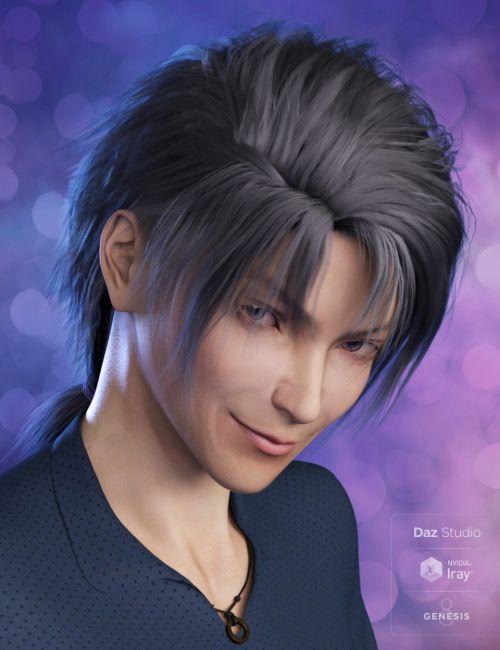 Yuzuru Hair for Genesis 8 Male(s)