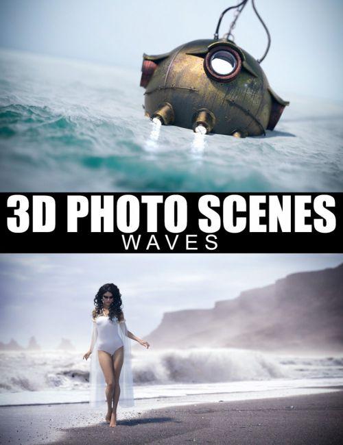 3D Photo Scenes - Waves
