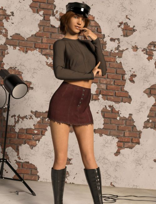 dForce Twiggy Outfit for Genesis 8 Female(s)