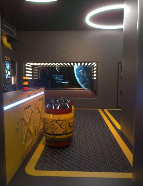 Sci-Fi Starship Quarters Volume 2