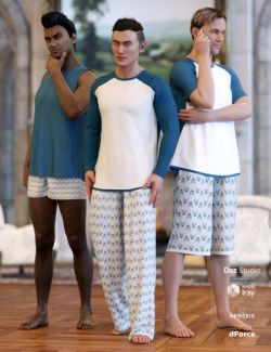 dForce Stellan Lounge Wear for Genesis 8 Male(s)
