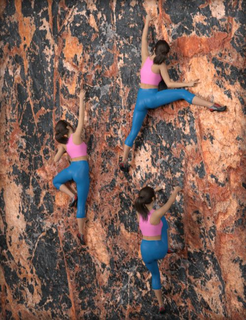 MDCH Climbing Poses for Genesis 3 and 8