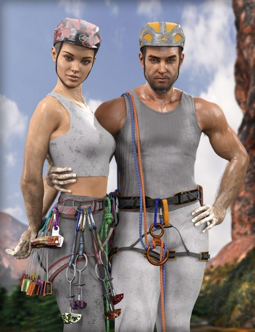 MDCH dForce Climb High Accessories for Genesis 3 and 8