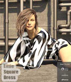 dForce Little Square Dress for Genesis 8 Female