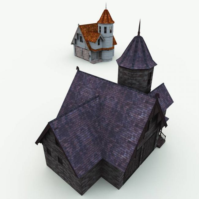 Haunted Carriage House for Blender