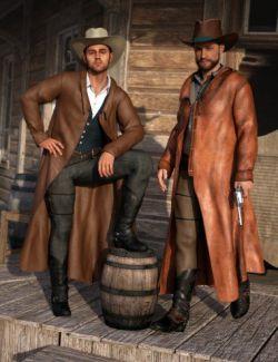 dForce Gunslinger Outfit Textures