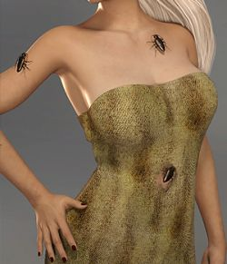 Halloween Cockroach Dress for Genesis 8 Female-dForce