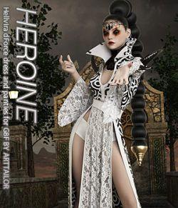 HEROINE - Hellvira dForce dress and panties for G8F