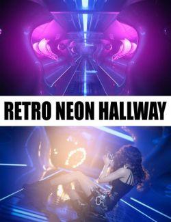 Retro Neon Hallway