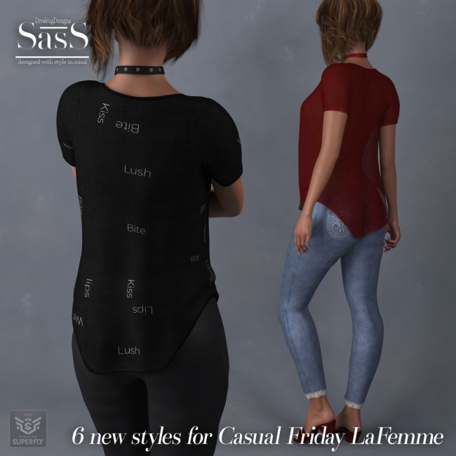 preview of classic best loved SasS Casual Friday _La Femme | Clothing for Poser