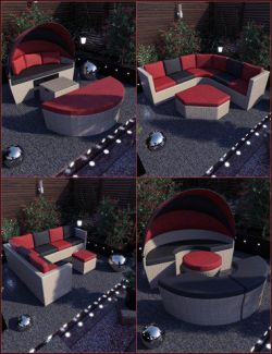 Contemporary Garden Furniture Set 01
