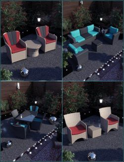 Contemporary Garden Furniture Set 02