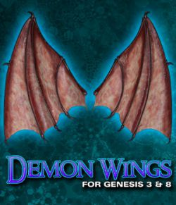 Exnem Demon Wings for Genesis 3 and Genesis 8