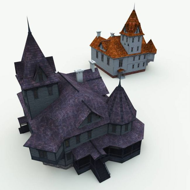 Haunted Manor House for Blender