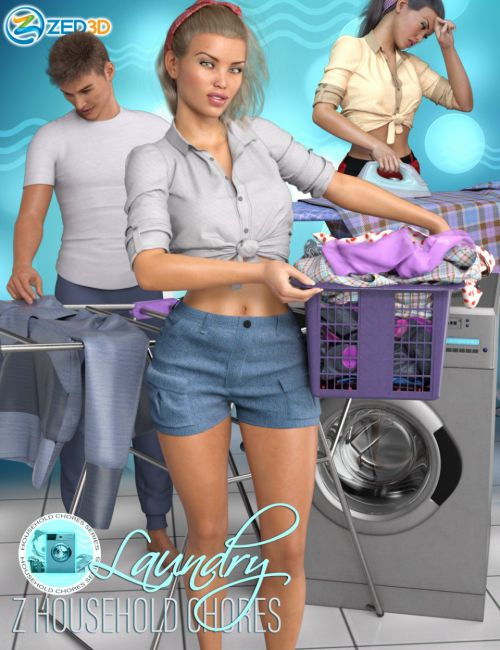 Z Household Chores Laundry for Genesis 8