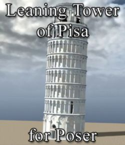 Leaning Tower of Pisa for Poser