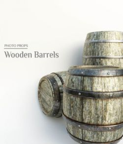 Photo Props: Wooden Barrels