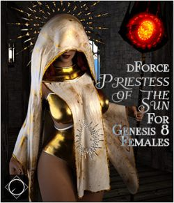 dforce Priestess of the Sun for Genesis 8 Females