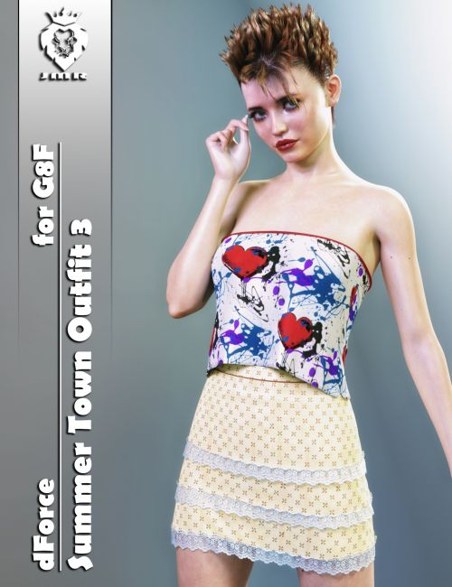 JMR dForce Summer Town Outfit 3 for G8F