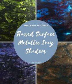 Raised Surface Metallic Iray Shaders