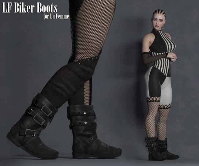 La Femme Biker Boots