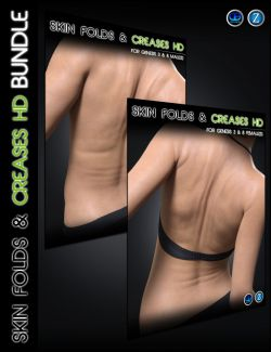 Skin Folds & Creases HD for Genesis 3 and 8 Bundle