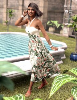 dForce Tropical Breeze Outfit for Genesis 8 Female(s)