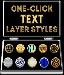One-Click TEXT PS Layer Styles