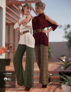 dForce Sweater Outfit Textures for Genesis 8 Female(s)