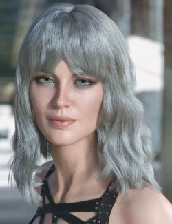 dForce Alexa Hair for Genesis 3 & 8 Female(s)