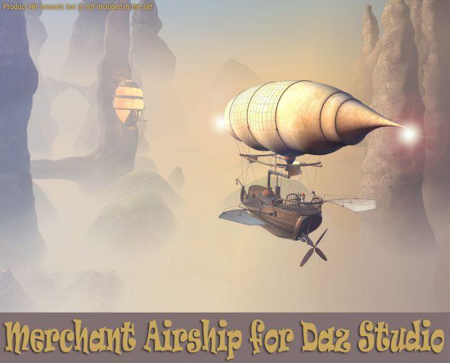 Merchant Airship for Daz Studio