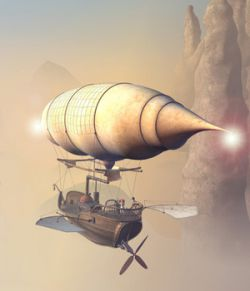 Merchant Airship for Daz Studio