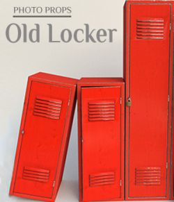 Photo Props: Old Locker for Poser and DS