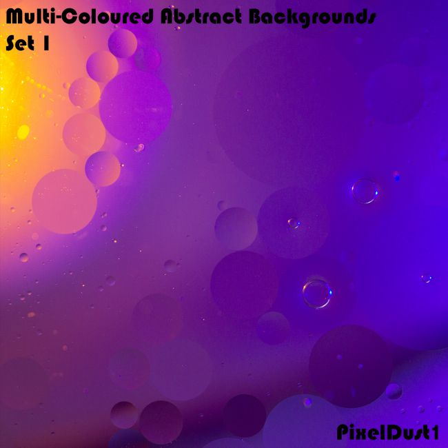 PixelDust1's MultiColoured Abstract Backgrounds - Set 1