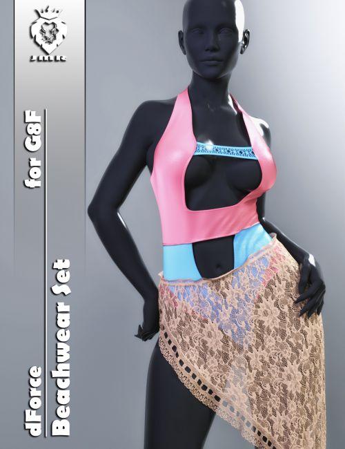 JMR dForce Beachwear Set for G8F