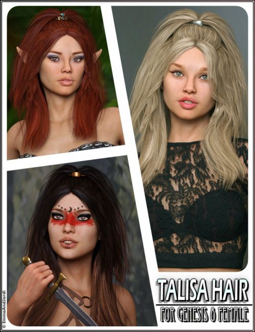 Talisa Hair for Genesis 8 Female(s)
