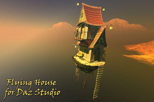 Flying House for Daz Studio