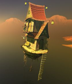 Flying House for Daz Studio