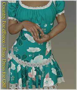 Country For dForce - Rosy Dress for G8F