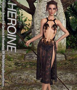 HEROINE- Illusion Armor for Genesis 8 Females