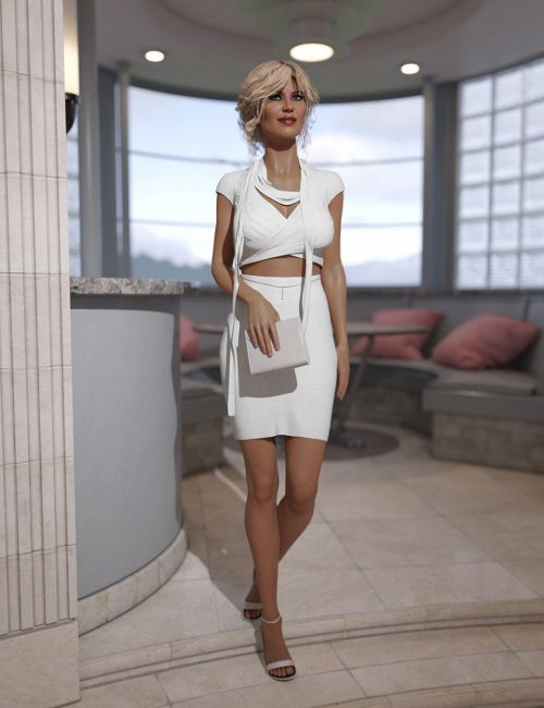 dForce Fashion Chic Outfit for Genesis 8 Female(s)